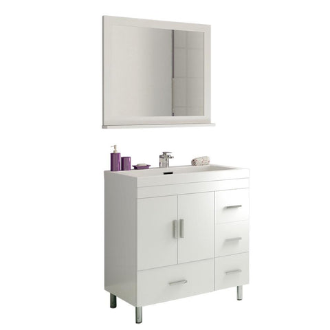 "Ripley Collection 30"" Single Modern Bathroom Vanity - White AT-8050-W"