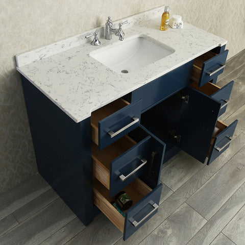"Seacliff by Ariel Radcliff 48"" Single Sink Vanity Set in Midnight Blue SC-RAD-48-SMB"