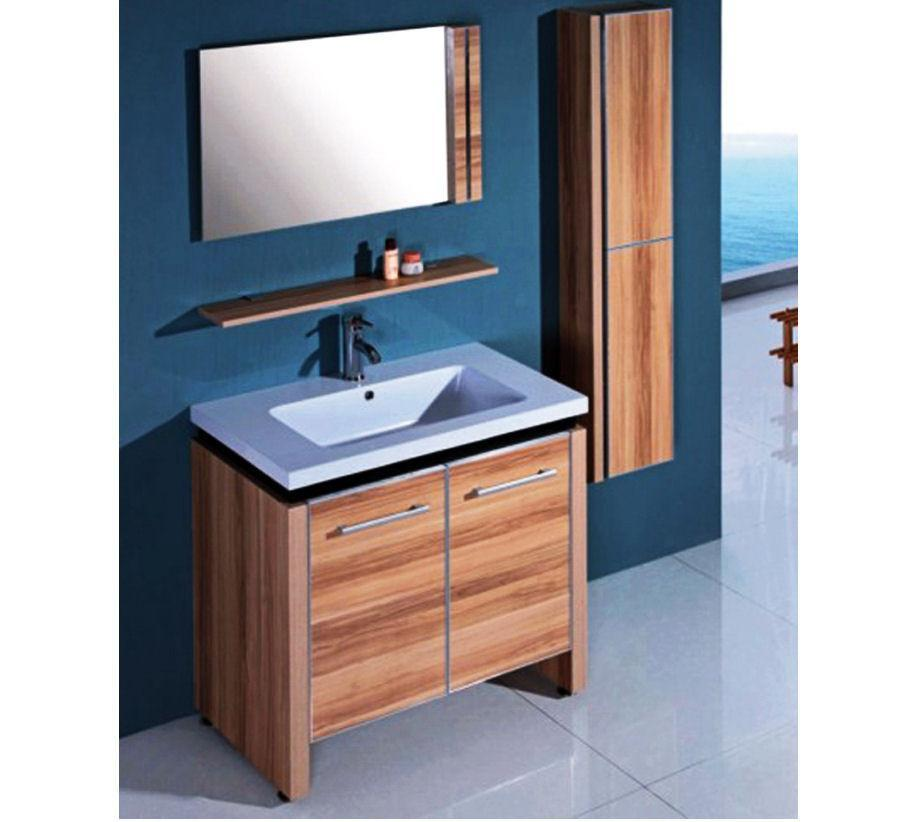 SINK VANITY  WITH MIRROR AND SIDE CABINET - NO FAUCET WTH0932