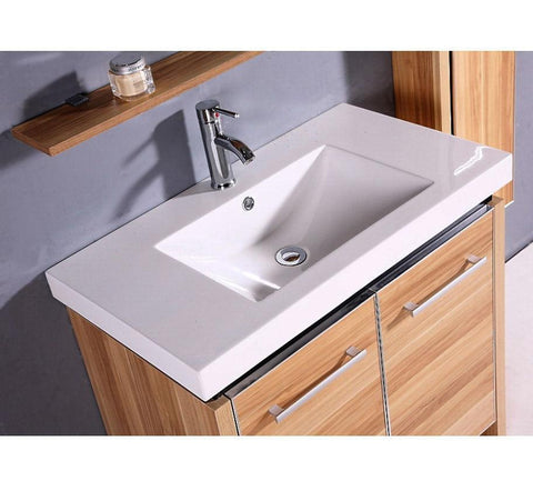 Image of SINK VANITY  WITH MIRROR AND SIDE CABINET - NO FAUCET WTH0932