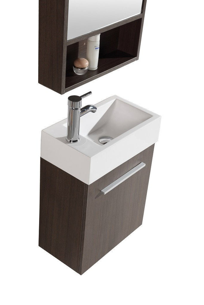 SINK VANITY WITH MIRROR - NO FAUCET WTH20160A