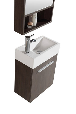 Image of SINK VANITY WITH MIRROR - NO FAUCET WTH20160A