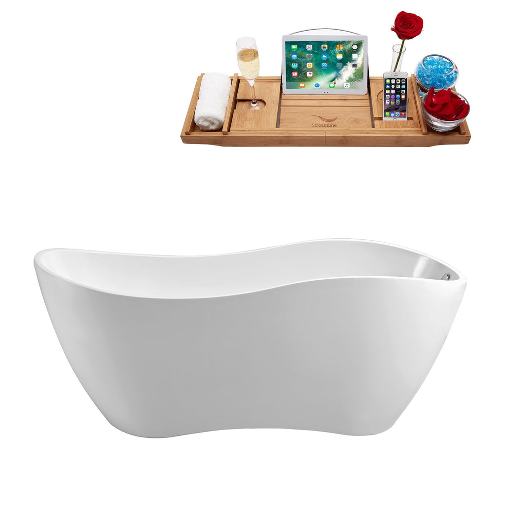 "Streamline 63"" Soaking Freestanding Tub 