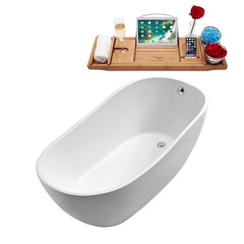 "Image of Streamline 63"" Soaking Freestanding Tub 