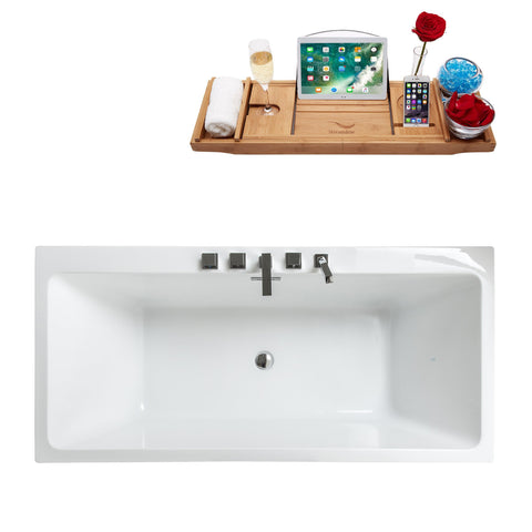 "Image of Streamline 67"" Freestanding Faucet and Tub Set MF2220-85"