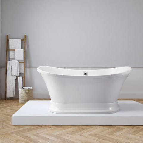 "Image of Streamline 68"" Soaking Freestanding Tub With External Drain 