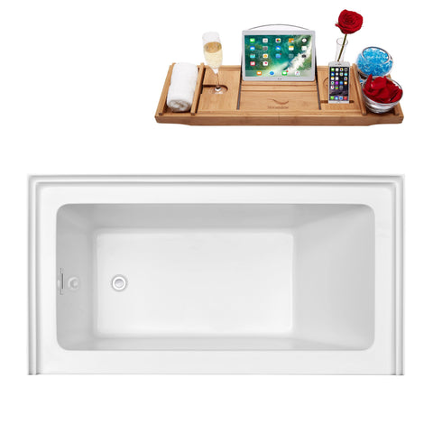 "Streamline Soaking Alcove Apron 60"" Tub With Internal Drain N-500-60ALWHLD-FM N-500-60ALWHLD-FM"