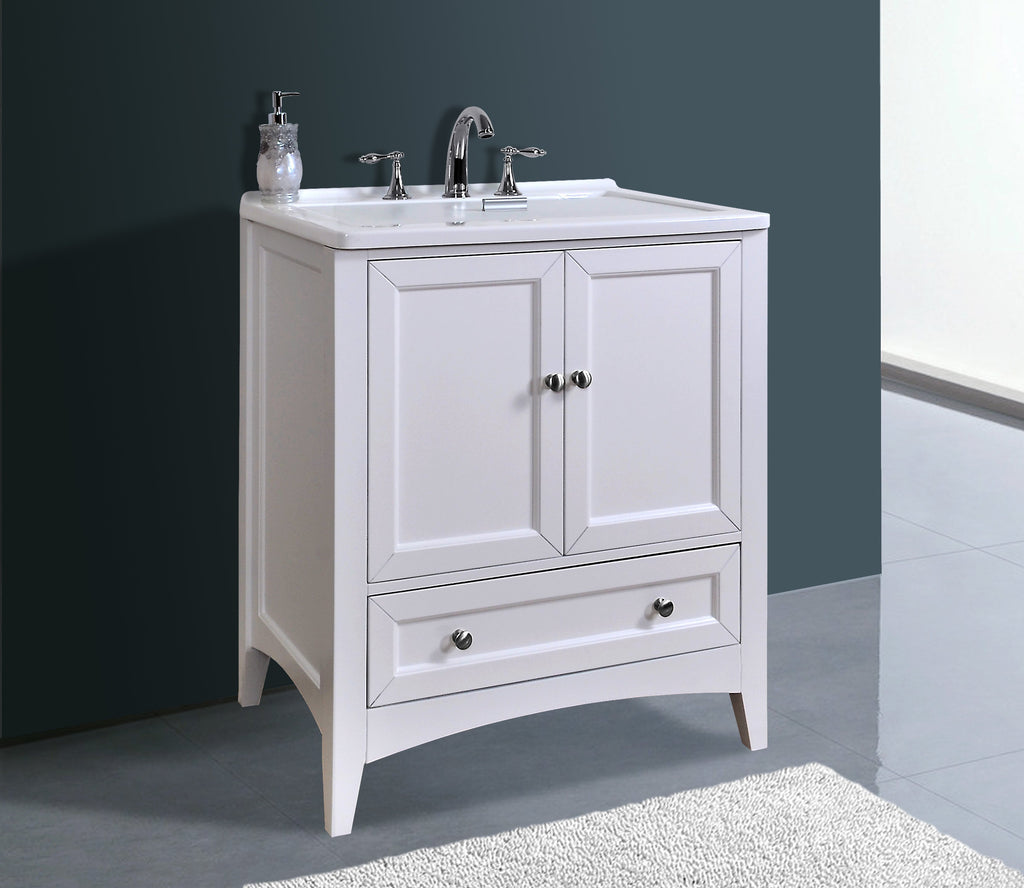 Stufurhome 30 inch White Laundry Utility Sink GM-Y01W