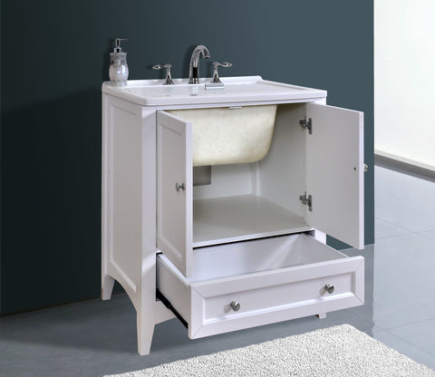 Image of Stufurhome 30 inch White Laundry Utility Sink GM-Y01W