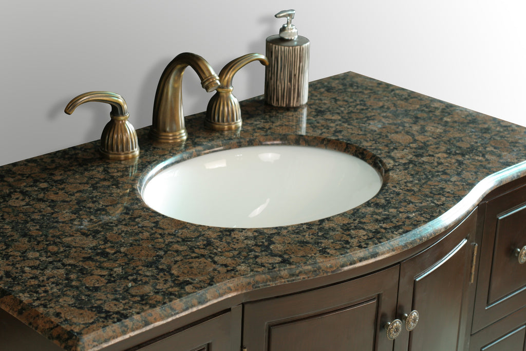 Stufurhome 40 inch Grand Cheswick Single Sink Vanity with Baltic Brown Granite Top GM-2206-40-BB