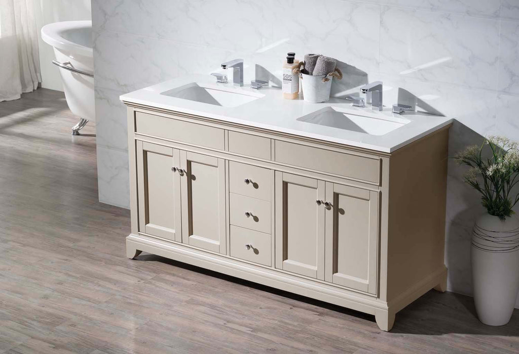 Stufurhome Erin 59 Inch Double Sink Bathroom Vanity HD-6004-59-QZ