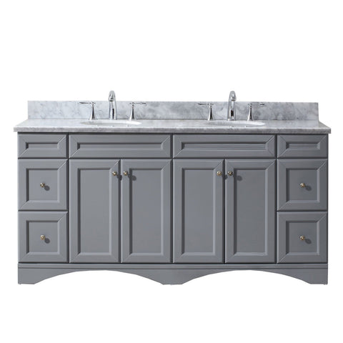 "Talisa 72"" Double Bathroom Vanity ED-25072-WMRO-GR-NM"