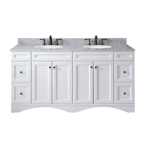 "Talisa 72"" Double Bathroom Vanity ED-25072-WMRO-WH-NM"