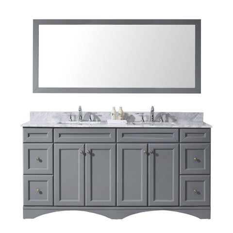 "Talisa 72"" Double Bathroom Vanity ED-25072-WMSQ-GR"