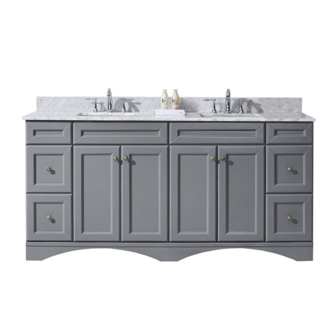 "Talisa 72"" Double Bathroom Vanity ED-25072-WMSQ-GR-NM"