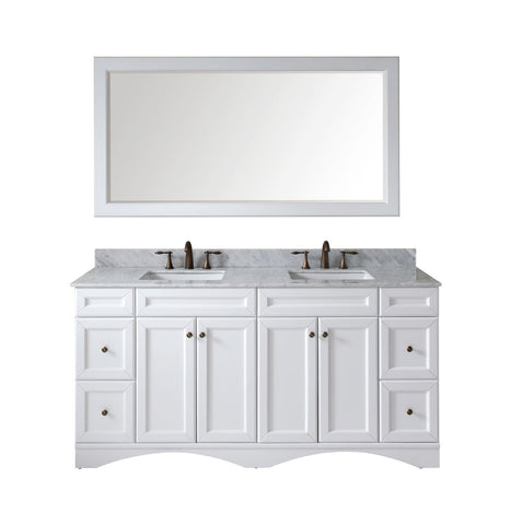 "Talisa 72"" Double Bathroom Vanity ED-25072-WMSQ-WH"