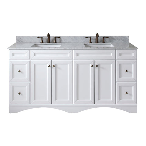 "Talisa 72"" Double Bathroom Vanity ED-25072-WMSQ-WH-NM"