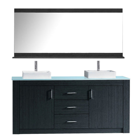 "Image of Tavian 60"" Double Bathroom Vanity KD-90060-G-GR"