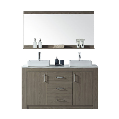 "Tavian 60"" Double Bathroom Vanity KD-90060-S-GO"