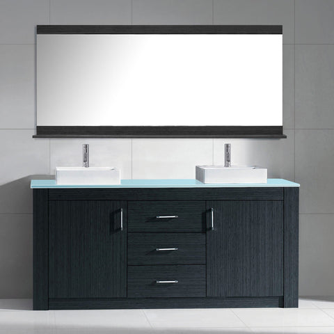 "Tavian 72"" Double Bathroom Vanity KD-90072-G-GO"