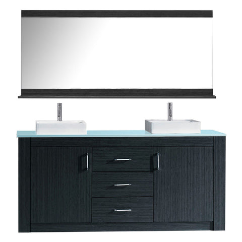 "Tavian 72"" Double Bathroom Vanity KD-90072-G-GR"