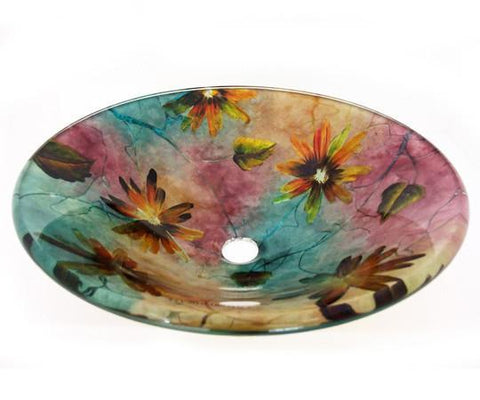 TEMPER GLASS VESSEL SINK ZA-184