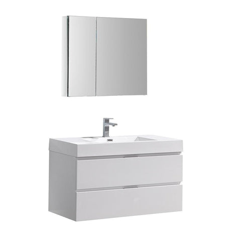 "Image of Valencia 40"" Wall Hung Vanity"