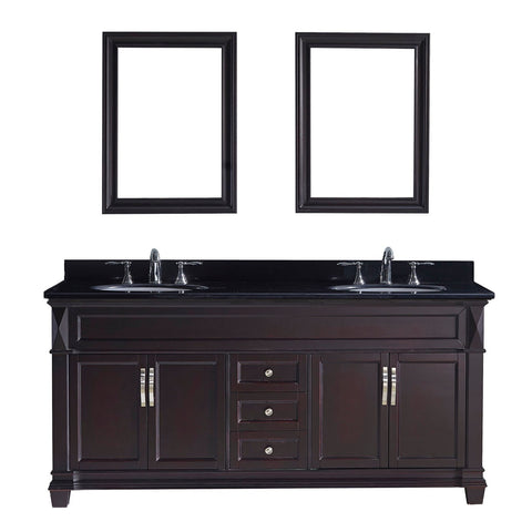 "Image of Victoria 72"" Double Bathroom Vanity MD-2672-BGRO-ES"