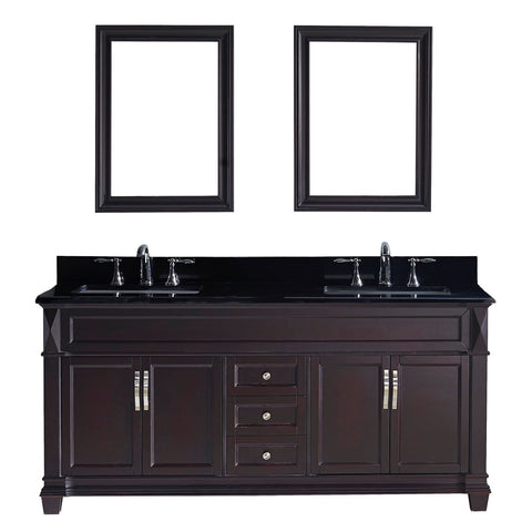 "Victoria 72"" Double Bathroom Vanity MD-2672-BGSQ-ES"