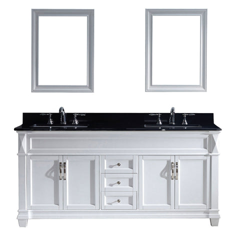 "Victoria 72"" Double Bathroom Vanity MD-2672-BGSQ-WH"