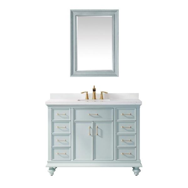 "Vinnova Charlotte 48"" Transitional Green Single Sink Set Vanity 735048-FG-CQS 735048-FG-CQS"