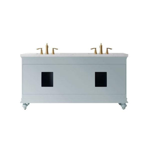 "Vinnova Charlotte 72"" Transitional Green Double Sink Vanity Set 735072-FG-CQS 735072-FG-CQS"
