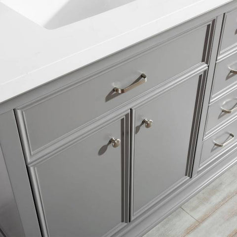 "Vinnova Charlotte 72"" Transitional Grey Double Sink Vanity Set 735072-GR-CQS 735072-GR-CQS"