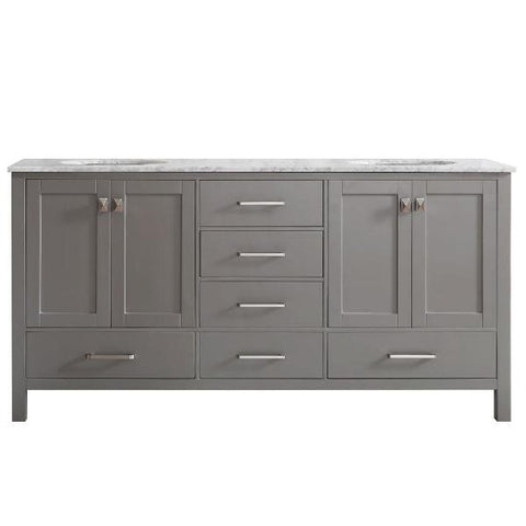 "Image of Vinnova Gela 72"" Modern Grey Double Sink Vanity 723072-GR-CA-NM 723072-GR-CA-NM"