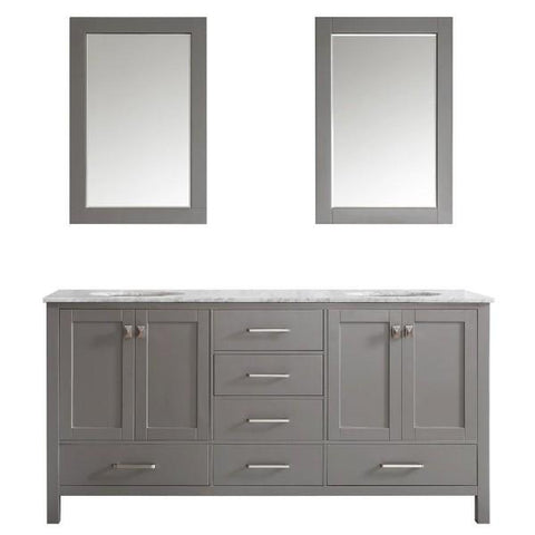 "Image of Vinnova Gela 72"" Modern Grey Double Sink Vanity Set 723072-GR-CA 723072-GR-CA"