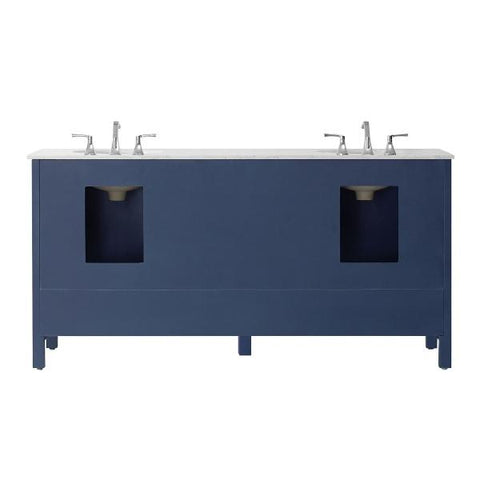 "Vinnova Gela 72"" Modern Royal Blue Double Sink Vanity 723072-RB-CA-NM"