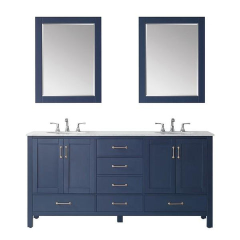 "Image of Vinnova Gela 72"" Modern Royal Blue Double Sink Vanity Set 723072-RB-CA"