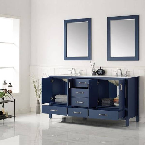 "Image of Vinnova Gela 72"" Modern Royal Blue Double Sink Vanity Set 723072-RB-CA 723072-RB-CA"