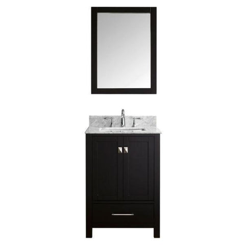 "Image of Virtu Caroline Avenue 24"" Espresso Single Bathroom Vanity w/ White Top GS-50024 GS-50024-WMSQ-ES"