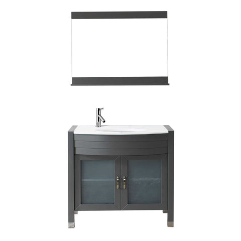 "Image of Virtu USA Ava 36"" Single Vanity with Aqua Tempered Glass countertop UM-3071-S-GR"