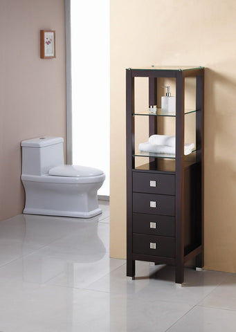 "Image of Virtu USA Cailey 16"" Linen Cabinet in Espresso MDC-489-ES"