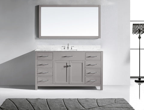"Virtu USA Caroline 60"" Single Bathroom Vanity MS-2060-WMRO-CG"