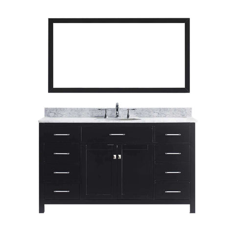"Virtu USA Caroline 60"" Single Bathroom Vanity MS-2060-WMRO-ES"