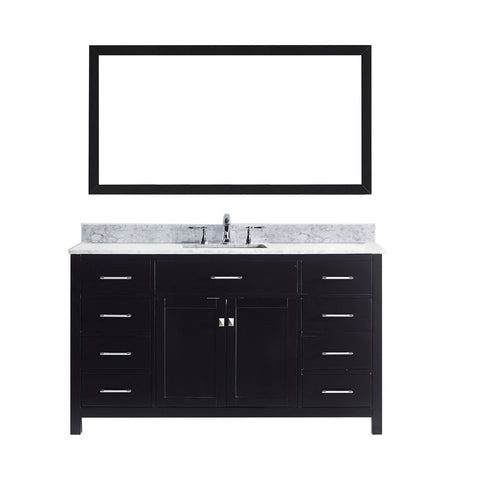 "Virtu USA Caroline 60"" Single Bathroom Vanity MS-2060-WMSQ-ES"