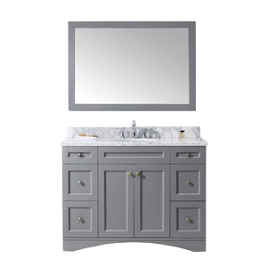 "Virtu USA Elise 48"" Single Bathroom Vanity with Marble Top ES-32048-WMRO-GR"