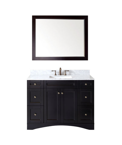 "Virtu USA Elise 48"" Single Bathroom Vanity with Marble Top ES-32048-WMSQ-ES"