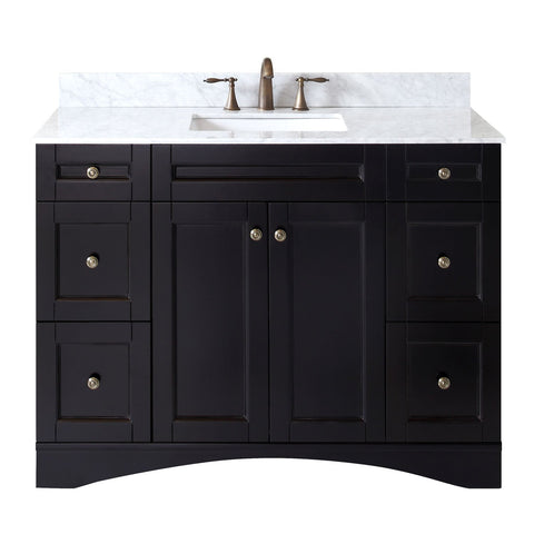 "Virtu USA Elise 48"" Single Bathroom Vanity with Marble Top ES-32048-WMSQ-ES-NM"