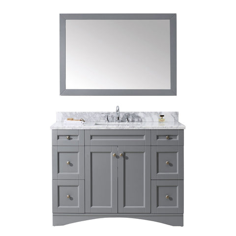 "Virtu USA Elise 48"" Single Bathroom Vanity with Marble Top ES-32048-WMSQ-WH"