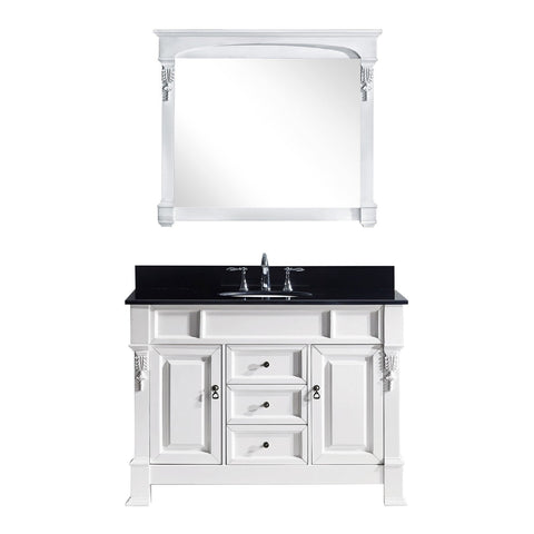 "Virtu USA Huntshire 48"" Single Bathroom Vanity GS-4048-BGRO-WH"