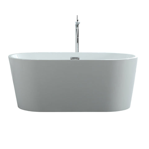 "Virtu USA Serenity 59"" x 29.5"" Freestanding Soaking Bathtub VTU-1159"